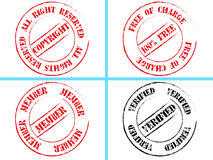 Set of business stamps. Illustrated set of business stamps isolated on a white background stock photography