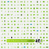 Set of business stickers Royalty Free Stock Images