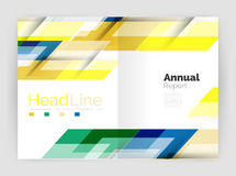 Set of business straight lines abstract backgrounds Royalty Free Illustration