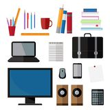 Set of business and study objects Royalty Free Stock Images