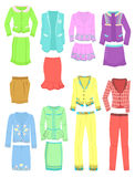Set of business suits. Set of womens business suits for spring and summer Stock Images