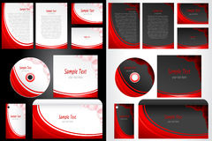 Set of Business Template Stock Image