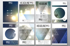 Set of business templates for brochure, flyer or Stock Photos