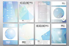 Set of business templates for brochure, flyer Royalty Free Stock Image