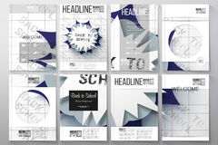 Set of business templates for brochure, flyer or booklet. Back to school design Stock Images