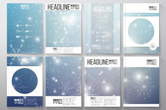 Set of business templates for brochure Royalty Free Stock Image
