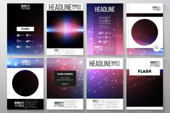 Set of business templates for brochure, flyer  Stock Images