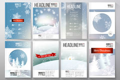 Set of business templates for brochure, flyer or stock illustration