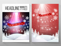 Set of business templates for brochure, flyer or. Booklet. Merry Christmas and happy New Year vector background royalty free illustration