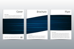 Set of business templates for brochure, flyer, cover magazine in A4 size,  illustration Stock Images