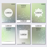 Set of business templates for brochure, flyer, cover magazine in A4 size.  Royalty Free Stock Photography
