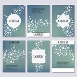 Set of business templates for brochure, flyer, cover magazine in A4 size.  Stock Photo