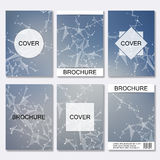 Set of business templates for brochure, flyer, cover magazine in A4 size. Structure molecule DNA and neurons. Geometric Stock Photo
