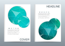 Set of business templates for brochure, flyer, cover magazine in A4 size. Structure molecule DNA and neurons. Geometric. Abstract background. Medicine, science Stock Photos