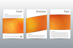 Set of business templates for brochure, flyer, cover magazine in A4 size. Triangular shape. Geometric abstract background. Vector Royalty Free Stock Photography