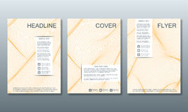 Set of business templates for brochure, flyer, cover magazine in A4 size, with wavy lines. Vector illustration. royalty free illustration