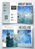 Set of business templates for brochure, magazine, flyer, booklet or annual report. Abstract blue polygonal background. Colorful backdrop, modern stylish vector Stock Image