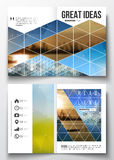 Set of business templates for brochure, magazine, flyer, booklet or annual report. Abstract colorful polygonal. Background with blurred image on it, modern Royalty Free Stock Images