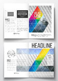 Set of business templates for brochure, magazine, flyer, booklet or annual report. Abstract colorful polygonal Stock Photography