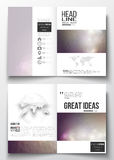 Set of business templates for brochure, magazine, flyer, booklet or annual report. Abstract colorful polygonal background, modern stylish triangle vector Stock Image
