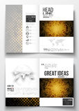 Set of business templates for brochure, magazine, flyer, booklet or annual report. Abstract polygonal background, modern Royalty Free Stock Photo