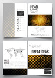 Set of business templates for brochure, magazine, flyer, booklet or annual report. Abstract polygonal background, modern Stock Image