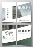 Set of business templates for brochure, magazine, flyer, booklet or annual report. Blurred image, urban landscape. Modern stylish triangular vector texture vector illustration