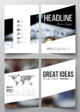 Set of business templates for brochure, magazine, flyer, booklet or annual report. Colorful background, blurred image Stock Photography