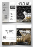 Set of business templates for brochure, magazine, flyer, booklet or annual report. Colorful polygonal background Stock Image