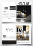 Set of business templates for brochure, magazine, flyer, booklet or annual report. Colorful polygonal background Royalty Free Stock Image