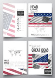 Set of business templates for brochure, magazine, flyer, booklet or annual report. Memorial Day background with abstract Royalty Free Stock Image