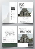 Set of business templates for brochure, magazine, flyer, booklet or annual report.  Stock Images