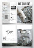 Set of business templates for brochure, magazine, flyer, booklet or annual report. Polygonal background, blurred image Royalty Free Stock Photo