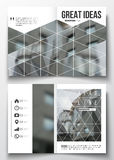 Set of business templates for brochure, magazine, flyer, booklet or annual report. Polygonal background, blurred image Royalty Free Stock Images