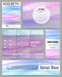 Set of business templates for presentation, brochure, flyer, banner or booklet. Abstract wave vector background Royalty Free Stock Photos