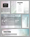 Set of business templates for presentation Royalty Free Stock Image