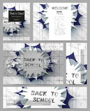 Set of business templates for presentation, brochure, flyer or booklet. Back to school background with letters made from Stock Image