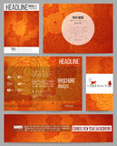 Set of business templates for presentation, brochure, flyer or booklet. Chinese new year background. Floral design with red monkeys, vector illustration royalty free illustration