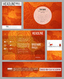 Set of business templates for presentation, brochure, flyer or booklet. Chinese new year background. Floral design with red monkeys, vector illustration vector illustration