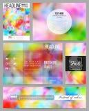 Set of business templates for presentation, brochure, flyer or booklet. Colorful background, Holi celebration, vector Stock Photos