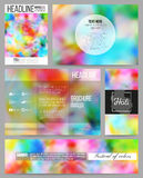 Set of business templates for presentation, brochure, flyer or booklet. Colorful background, Holi celebration, vector Stock Photography
