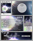 Set of business templates for presentation, brochure, flyer or booklet. Electric lighting effect. Magic vector Stock Images