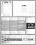 Set of business templates for presentation, brochure, flyer or booklet. Halftone vector background. Black dots on white Stock Image