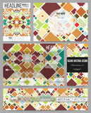 Set of business templates for presentation, brochure, flyer or booklet. Material Design. Colored vector background Stock Images