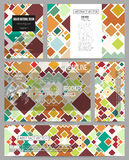 Set of business templates for presentation, brochure, flyer or booklet. Material Design. Colored vector background Stock Image