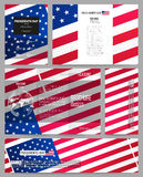 Set of business templates for presentation, brochure, flyer or booklet. Presidents day background with american flag Royalty Free Stock Image