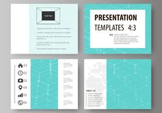 Set of business templates for presentation slides. Abstract vector layouts in flat design.   Royalty Free Stock Photography