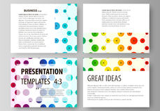 Set of business templates for presentation slides. Abstract vector layouts in flat style. Chemistry pattern, hexagonal Royalty Free Stock Image