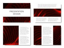 Set of business templates for presentation slides. Colorful design with waves abstract beautiful background. Vector illustration. Set of business templates for Royalty Free Stock Images