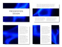 Set of business templates for presentation slides. Colorful design with waves abstract beautiful background. Vector illustration. Set of business templates for Royalty Free Stock Photography